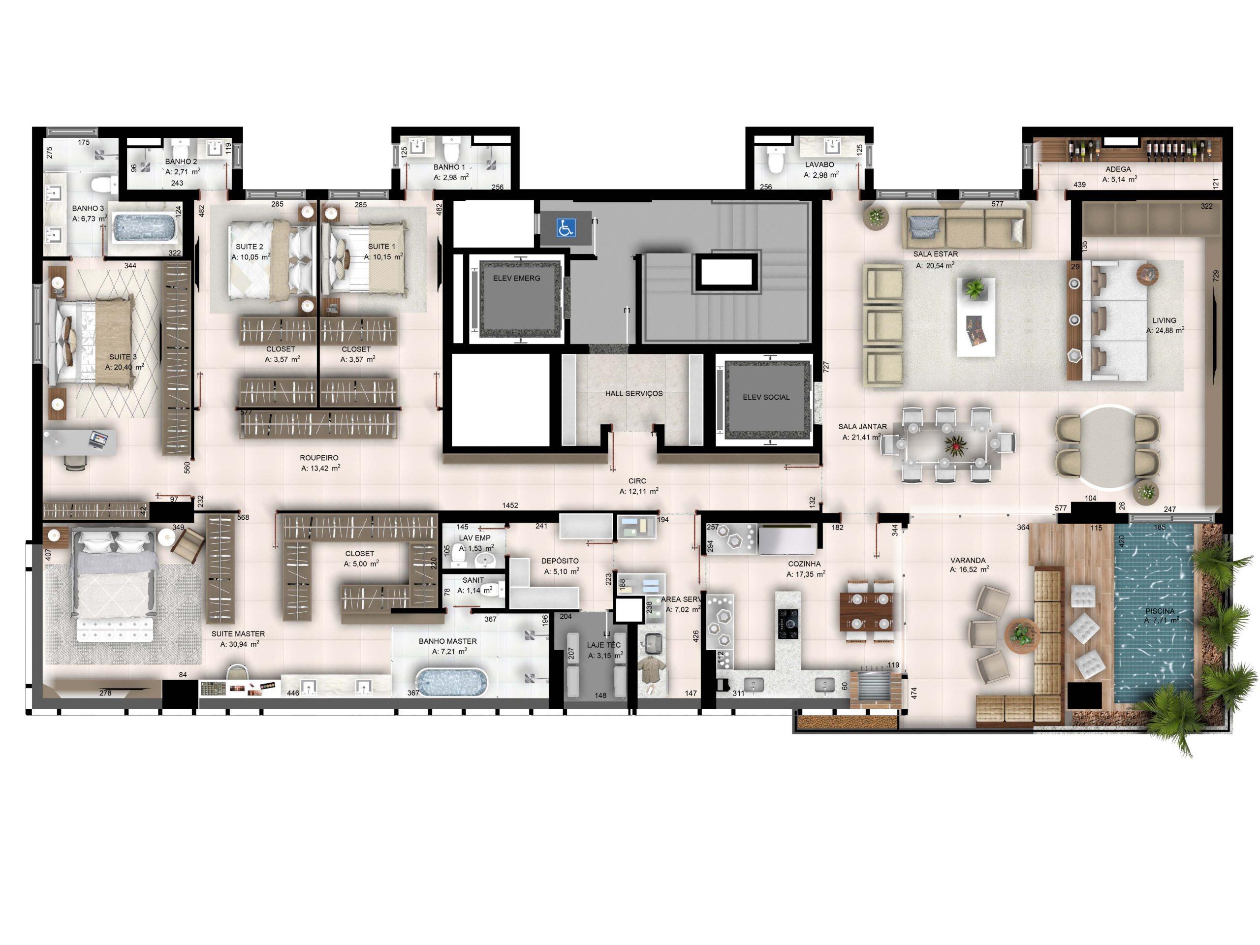 Penthouse - 3701 - 319,31 m²